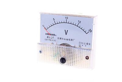 1pcs Ac 20v Analog Panel Volt Voltage Meter Voltmeter Gauge 85l1 Ac 0-20v
