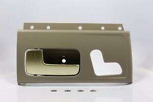 new tan beige gold inside door handle front left for 03 12 lincoln town car. Black Bedroom Furniture Sets. Home Design Ideas
