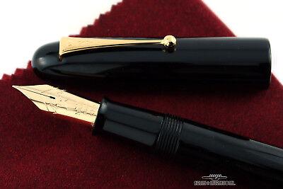 Namiki Emperor Black Urushi Fountain Pen - #50 Medium Nib