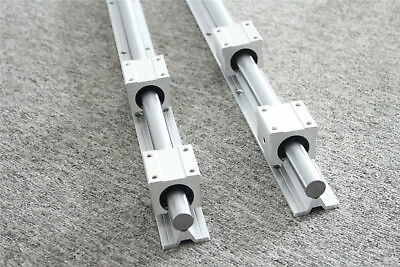 2pcs Sbr16 L300-2000mm Linear Rail Silde Guide Shaft 4pcs Sbr16uu Block