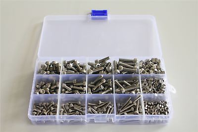 M3 M4 M5 Hex Socket Head Cap Screw Bolts Nuts Assorted Box Kit Set 480pcs 510pcs