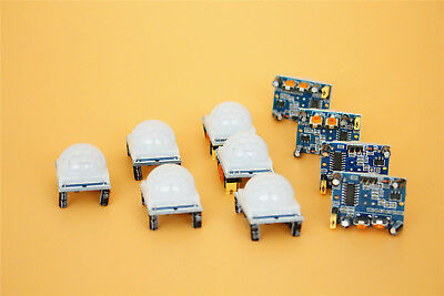 10x Pyroelectric Adjust Ir Infrared Pir Motion Sensor Detector Module Hc-sr501