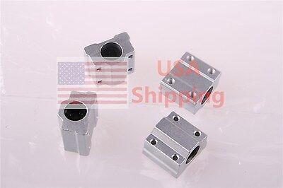 4x Sc8uu Scs8uu Linear Motion Ball Bearing Slide Bushing Reprap 3d Printer