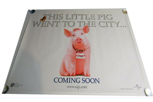 Babe Pig in the city movie UK quad poster ORIGINAL D/S full size