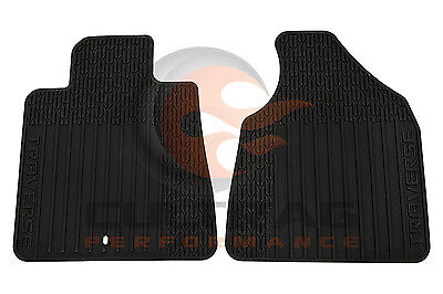 2009 2017 Traverse Genuine GM Front All Weather Floor Mats Black 22890016