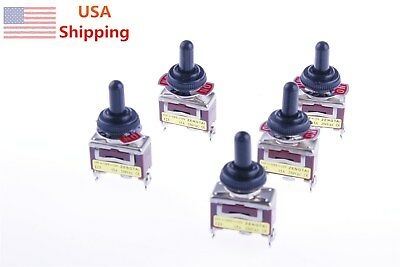 5pcs 3position On-off-on Spdt Momentary Toggle Switch 5pcs Waterproof Cover Cap