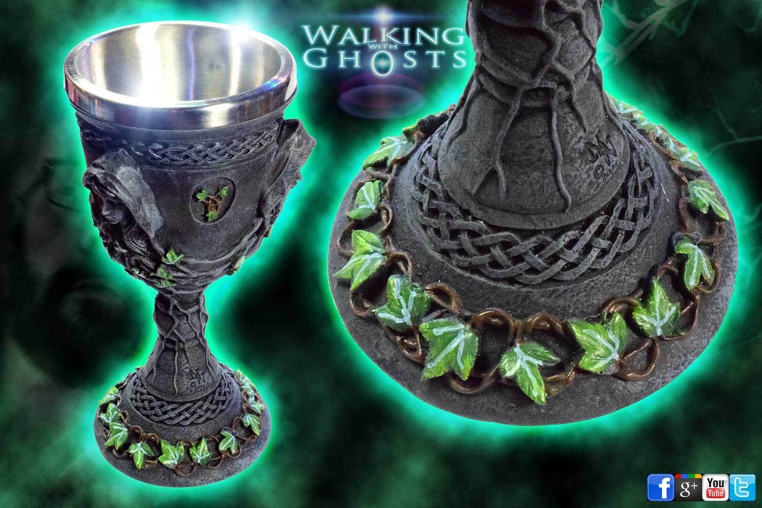 1x Mother Maiden Crone Alter Chalice Cup Goblet Celtic Pagan Wicca Triple Moon 1