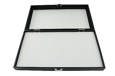 New Glass Top White Pad Display Box Case For Jewelry Militaria Medals Pins
