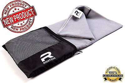(Large)RIVATION Microfiber Yoga Sports Towel  Fast Drying for Camping Gym Travel
