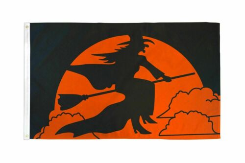 Halloween Witch Flag Holiday Decoration Banner Party Pennant Outdoor Decor 3x5