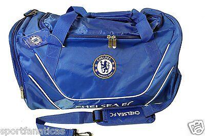 Official Chelsea FC XL Duffel Bag soccer NEW! Blues team gear padded strap ()