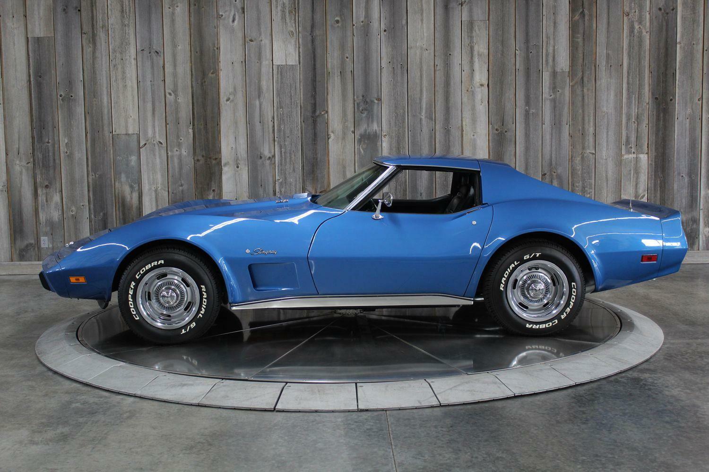 1975 Blue Chevrolet Corvette  L82   C3 Corvette Photo 2