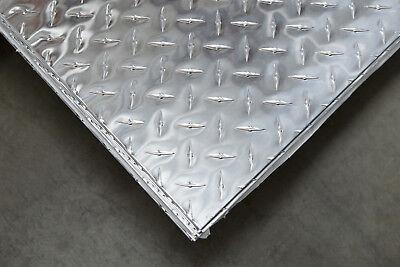 3003 Aluminum Diamond Plate Bright - .125 18 X 48 X 96 - 2 Pcs