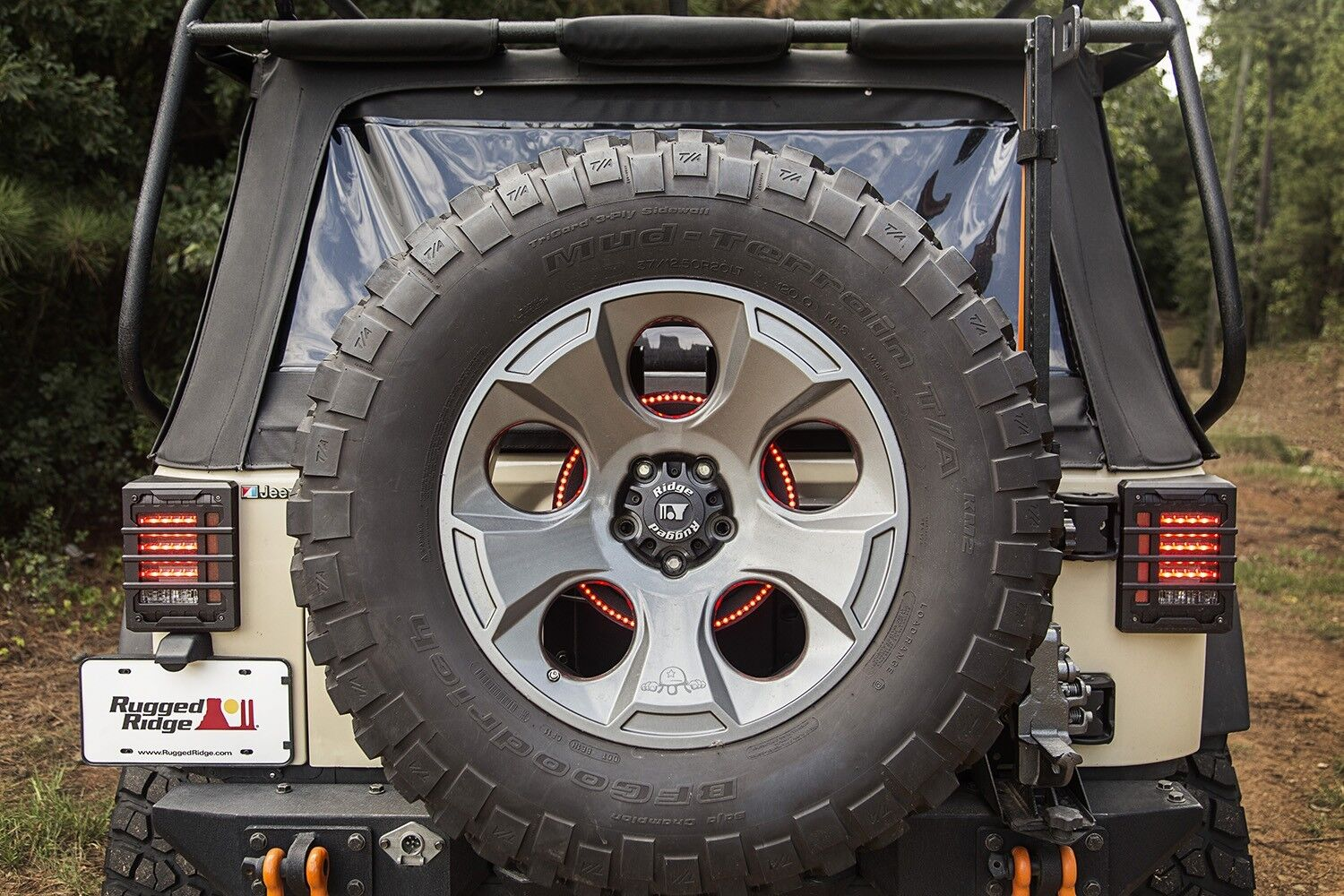 Led Spare Tire Brake Light Ring Rugged Ridge For Jeep