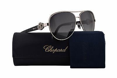 CHOPARD Women Sunglasses SCHC26S 0579 Silver Black/Grey Gradient Lens (Chopard Sunglasses For Women)