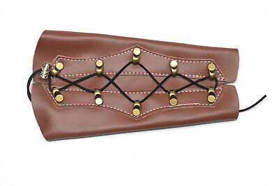 Leather Archery Arm Guard Protector Brace Longbow Hunting Shooting -