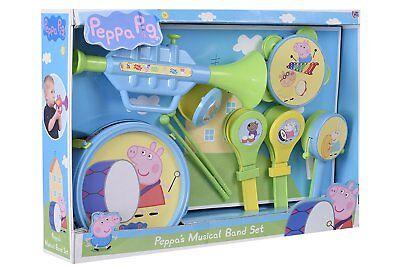(Brand New 10 Pieces Peppa Pig Musical Band, tea set, cash register)