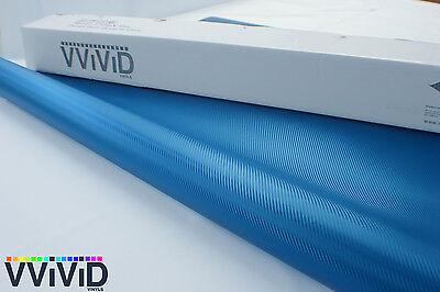 "Vvivid Xpo Blue 3D carbon fiber 3"" x 4"" sample vehicle wrapping vinyl"