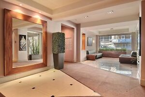 Executive 2 bedroom, luxurious building- downtown Montreal