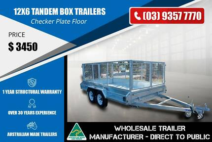 TANDEM AXLE GALVANISED BOX TRAILERS  - 12x6 Epping Whittlesea Area Preview
