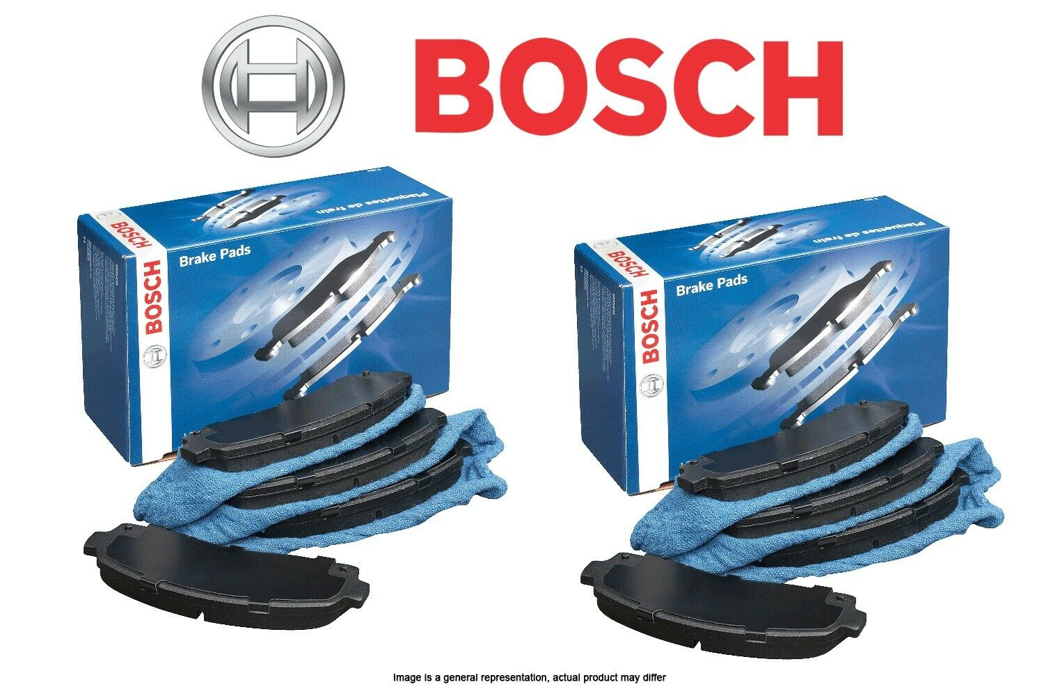 Bosch BE883H Blue Disc Brake Pad Set with Hardware