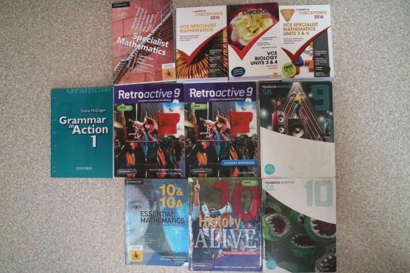 High school, VCE and University workbooks/