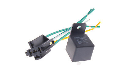 Us Stock 12v 40adc 5pin Car Spdt Auto Power Relay With Socket Jd2912-1z-12vdc