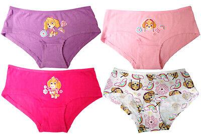 4 Stück Mädchen Unterhose Paw Patrol Slip  coole Kinder Short Unterwäsche