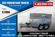 8x5 Tandem Cage Trailer - Fully Weld Body Epping Whittlesea Area Preview