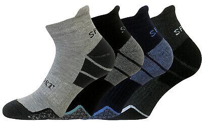 Gepolsterte Sport Quarter Socken (4 Paar Sportsocken Kurzschaftsocken Herren Quarter Socken Hochferse gepolstert )