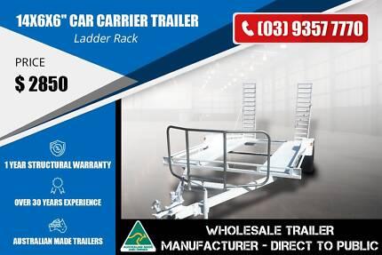 Ladder Rack Car Carrier Trailer - 14x6x6''- GVM 2000kg Epping Whittlesea Area Preview