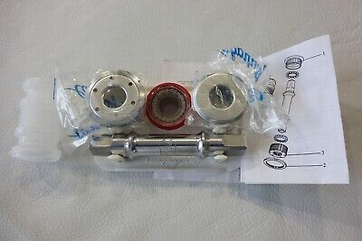 NOS Campagnolo C Record Bottom Bracket Alloy Cup Set FRENCH thread w//rifled cups