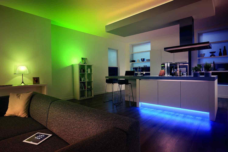 finest selection bd0cb 1ef8e Details about Philips Hue 2m Lightstrip Plus LED Kit Alexa Google Home  Wireless Lighting Strip