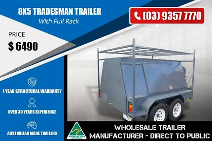 Custom Build Tradesman Trailer With Full Rack - 8x5 Epping Whittlesea Area Preview