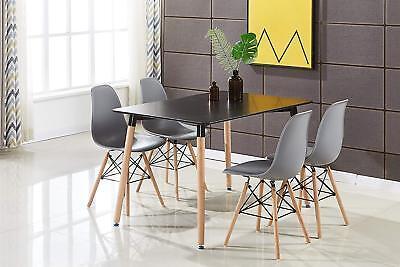 Pack 4 sillas de comedor Gris silla diseño nórdico retro estilo