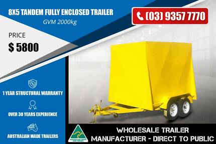 Fully Enclosed Trailer - 8x5 - Tandem Axle Epping Whittlesea Area Preview
