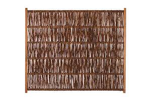 Weidenzaun 120x140 cm OPTIMO A-Qualität Naturzaun Flechtzaun Sichtschutz Weide
