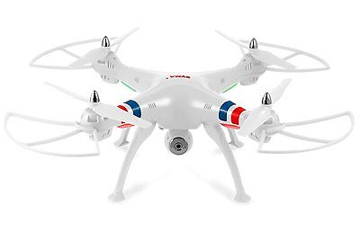 Syma X8C White 4 Channel RC Helicopter Drone with Camera 2.4 Ghz Quadcopter