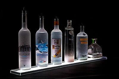 Armana Acrylic New 52 Led Lighted Liquor Bottle 44 Shelves Bar Shelf