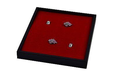 New Plastic 36 Slot Red Velvet Ring Insert Jewelry Display Tray Holder Case
