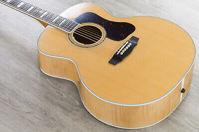 Guild Guitars F-55E Acoustic Electric Guitar, Maple Back & Sides, Natural