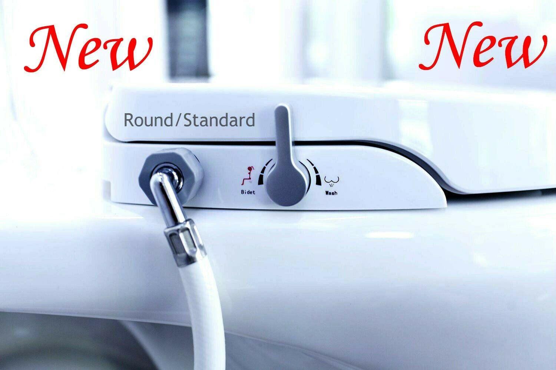 Bidet ROUND Toilet Bidet Seat Non Electric Sleek Self Cleani