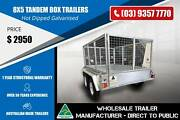 Hot Dipped Box Trailers With Cage - Tandem - 8x5 Epping Whittlesea Area Preview
