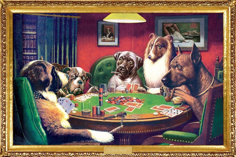 Perros Jugando Poker Kelly Poster Menta Ebay