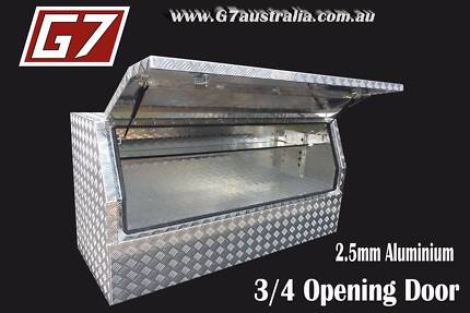 Aluminium Toolbox 3/4 Opening Door for utes trucks trailers tool