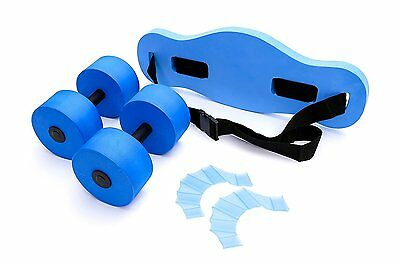 Aqua Fitness Water Exercise Set - 6 Piece Aerobic Belt, Barbells Pool Workout