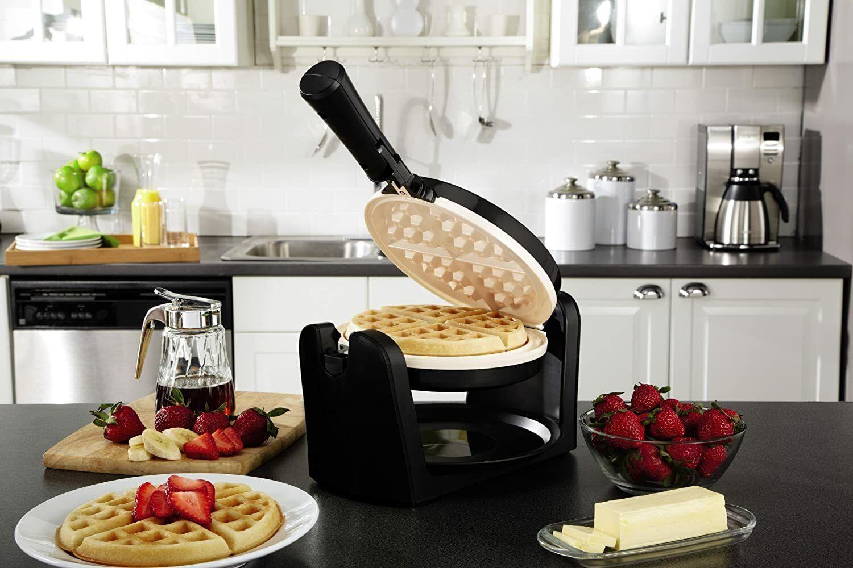 Oster DuraCeramic Flip Waffle Maker - Black CKSTWFBF10W-ECO