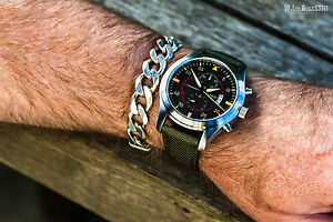Parnis pilot/aviator chronograph quartz mens watch.UK Seller,Expr deliv!