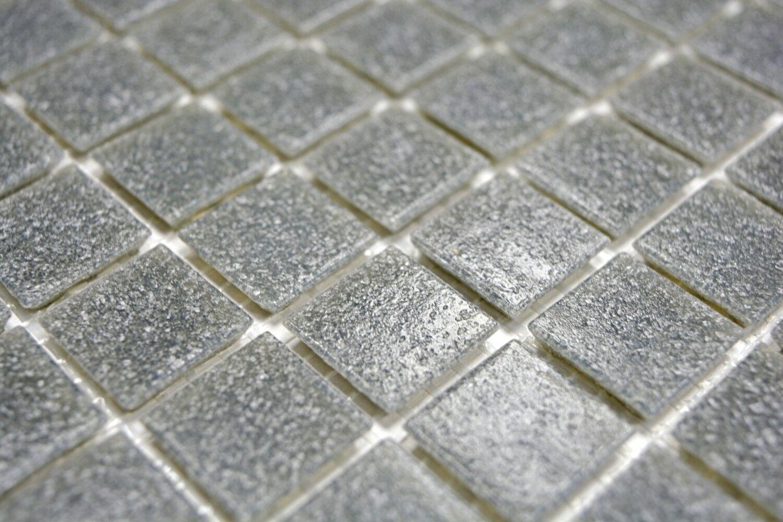 Piastrella mosaico vetro grigio pannelli in bagno specchio 200 a09 n