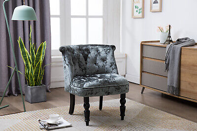 Kings Brand Furniture – Diana Velvet Tufted Upholstered Accent Chair, Gray